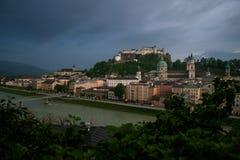 Salzburg at dusk Royalty Free Stock Photography