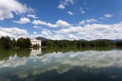 Salzburg e os alpes Foto de Stock