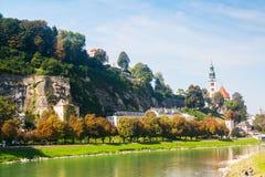 Salzburg an einem sonnigen Tag Stockfotografie