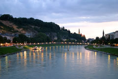 Salzburg in evening Royalty Free Stock Images
