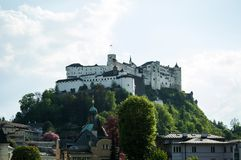 Salzburg, Festung Hohensalzburg, the famous castle in the city, fortress in austria royalty free stock photos