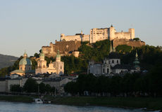 Salzburg with fortress Stock Photography
