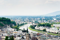 Salzburg From Above Royalty Free Stock Photos