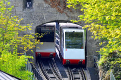 Salzburg - funicular transport Stock Photo