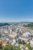 Salzburg general view from Salzburg Fortress (Festung Hohenzalsb stock photography