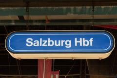 Salzburg Hauptbahnhof Stock Afbeeldingen