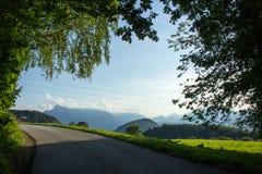 Salzburg, Heuberg, viaje de la bicicleta en verano fotos de archivo