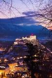 Salzburg i kasztel Hohensalzburg Austria - Zdjęcia Royalty Free