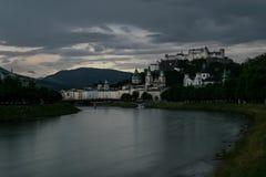 Salzburg landskap i Österrike nära den tyska gränsen Royaltyfri Foto