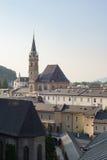 Salzburg main church dome and cityscape Stock Photos