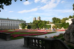 Salzburg - mirabelle garden. Mirabelle garden from Salzburg with flowers Royalty Free Stock Photography
