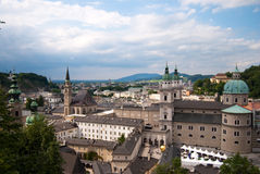 Salzburg monastery and cityscape Royalty Free Stock Photos