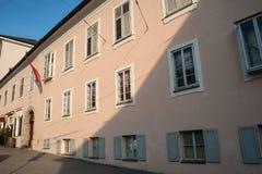 Salzburg Mozart Wohnhaus, casa viva imagen de archivo libre de regalías