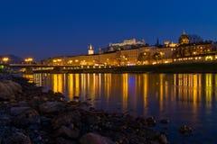 Salzburg na noite Fotos de Stock