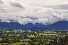 Salzburg neighborhood, top view Stock Images