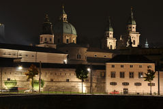 Salzburg in the night Stock Photo