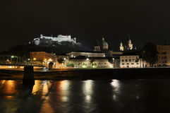 Salzburg in the night Stock Photography