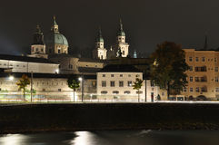 Salzburg in the night Stock Image