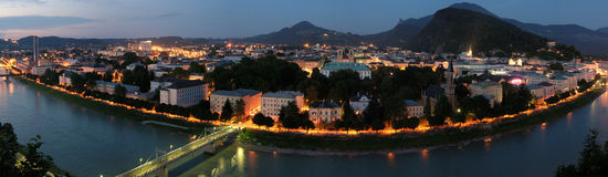 Salzburg night Royalty Free Stock Images