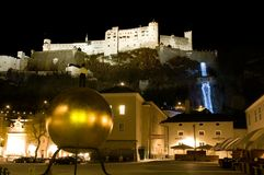 Salzburg by night Stock Photography