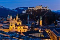 Salzburg at night Royalty Free Stock Photos