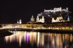 Salzburg by night Royalty Free Stock Photo