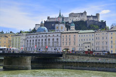 Salzburg old castle, austria Stock Photography