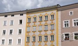 Salzburg old residential architecture. stock images