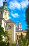 Salzburg, Oostenrijk - Mei 01, 2017: Hohensalzburgvesting, Salzburg in Oostenrijk Royalty-vrije Stock Foto