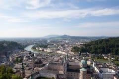 Salzburg Panorama. The beautiful panoramic view of the Salzburg city, Austria royalty free stock image
