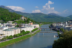 Salzburg panorama Royaltyfria Bilder