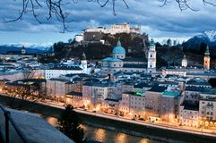 Salzburg panorama Royalty Free Stock Photography