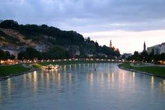 Salzburg por la tarde Imágenes de archivo libres de regalías