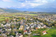 Salzburg province with mountain seen from the Hohensalzburg Fort Royalty Free Stock Photos