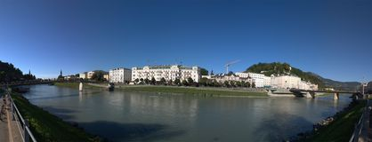 Salzburg river panorama Royalty Free Stock Image