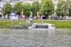 Salzburg. River Salz Stock Image