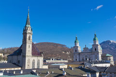 Salzburg roofs Royalty Free Stock Images