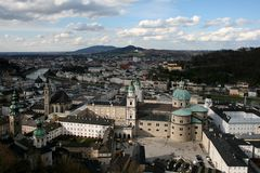 Salzburg's old town Stock Images