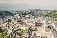 Salzburg and the Salzau from above. Salzburg and the Salzau as seen from above Stock Images