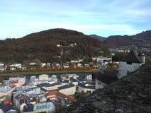 Salzburg. The sight of the Hohe Festung Salzburg Stock Photos