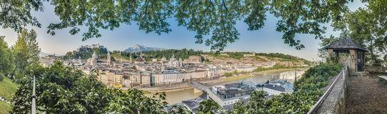 Salzburg skyline as seen from the Kapuzinerkloster viewpoint, Au Royalty Free Stock Photography