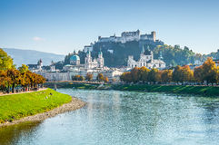 Salzburg skyline with Fortress in summer, Salzburger Land, Austria Stock Images