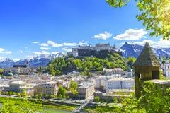Salzburg in spring season Stock Photo