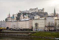 Salzburg stad, Österrike, Europa Royaltyfri Fotografi