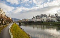 Salzburg stad, Österrike, Europa Royaltyfri Foto