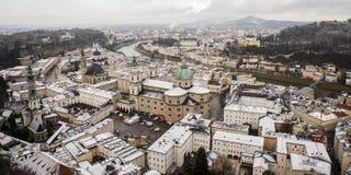 Salzburg stad, Österrike, Europa Royaltyfria Bilder