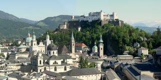 Salzburg-Stadt Lizenzfreies Stockfoto