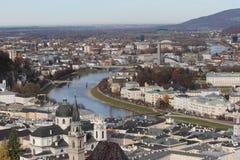 Salzburg-Stadt-Landschaft Lizenzfreie Stockfotos