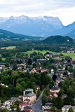 Salzburg-Stadtrand Stockfotografie