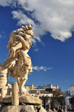 Salzburg stary miasteczko, Austria Mirabellplatz - Barokowa architektura fotografia stock